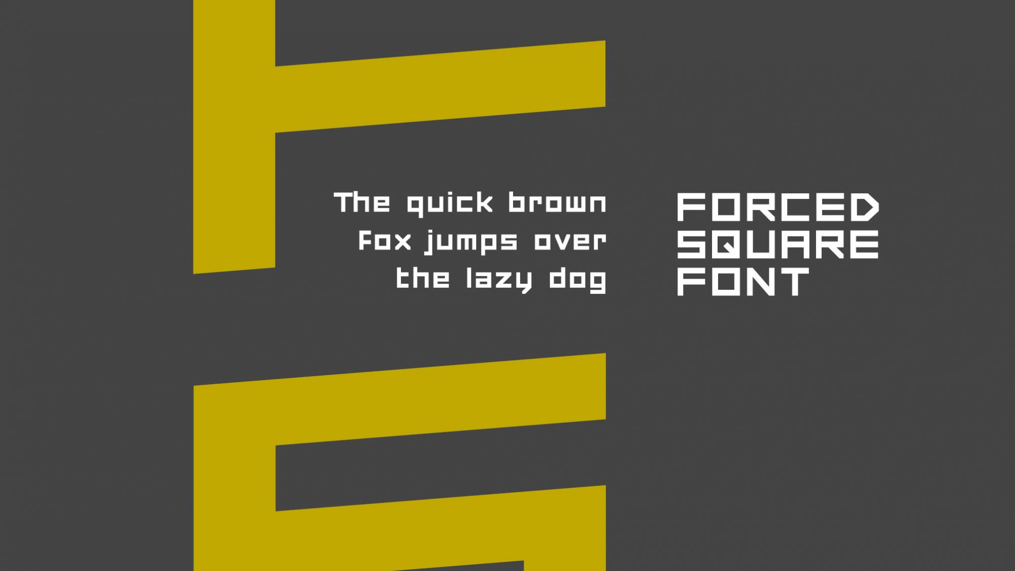 Dafont Free Download Forced Square Techno Font Drawperfect